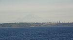 Mt. Rainier and Seattle from the ferry.